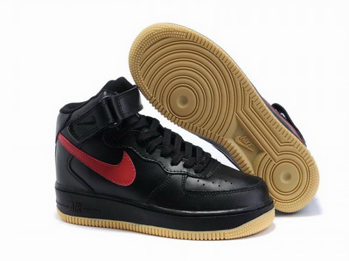 Mens Nike Air Force 1 25th High Shoes Black Red Brown Review