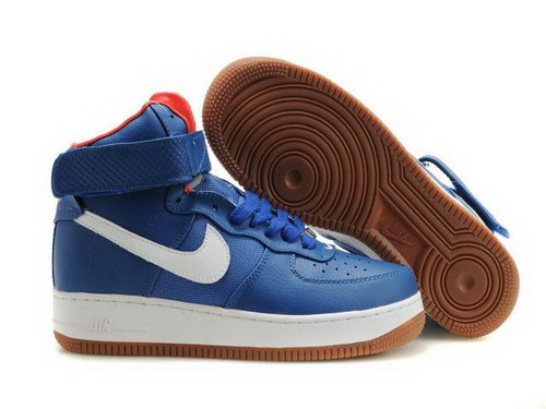 Mens Nike Air Force 1 25th High Shoes Blue White New Zealand