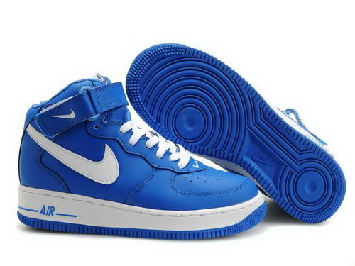 Mens Nike Air Force 1 25th High Shoes Blue Factory