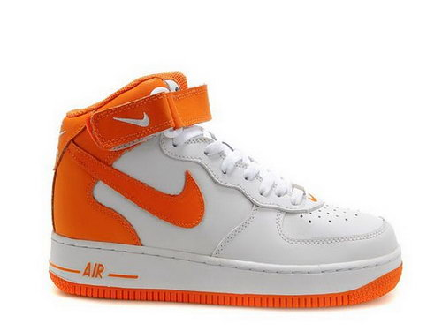 Mens Nike Air Force 1 25th High Shoes Orange White Italy