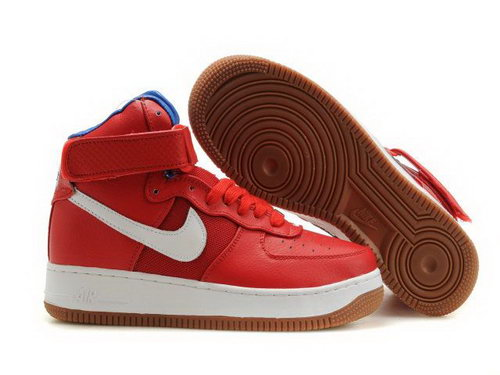 Mens Nike Air Force 1 25th High Shoes Red White Coupon