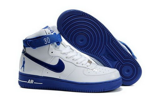 Mens Nike Air Force 1 25th High Shoes White Blue Sweden