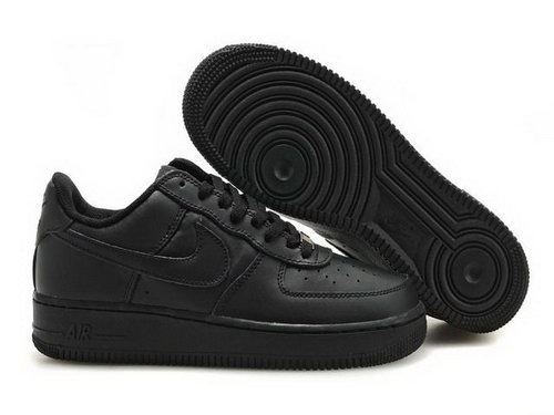 Mens Nike Air Force 1 25th Low Shoes All Black Czech