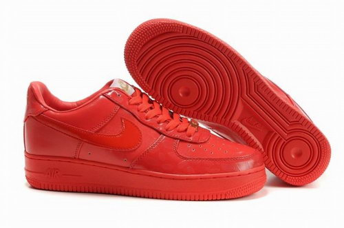 Mens Nike Air Force 1 25th Low Shoes All Red Netherlands