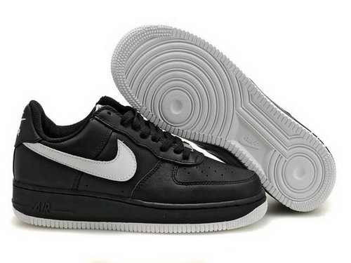 Mens Nike Air Force 1 25th Low Shoes Fade Black White Outlet