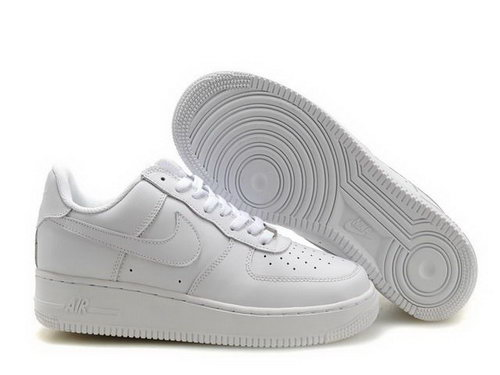 Mens Nike Air Force 1 25th Low Shoes Full White Discount