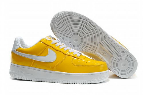 Mens Nike Air Force 1 25th Low Shoes Hornskin Yellow White Denmark