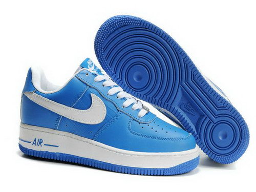 Mens Nike Air Force 1 25th Low Shoes Light Blue