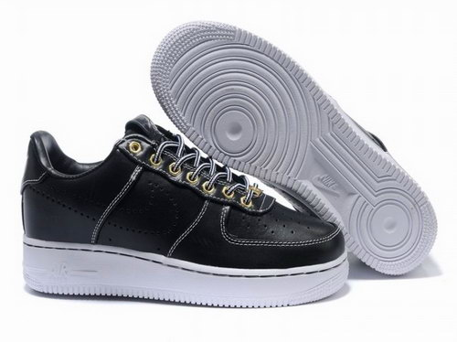 Mens Nike Air Force 1 25th Low Shoes Metalic Black Factory Store
