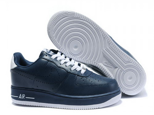 Mens Nike Air Force 1 25th Low Shoes Metalic Dark Blue Outlet Online