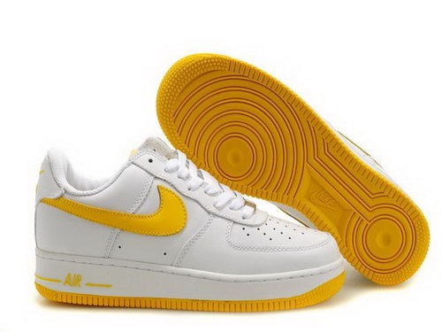 Mens Nike Air Force 1 25th Low Shoes White Broom Yellow Hong Kong
