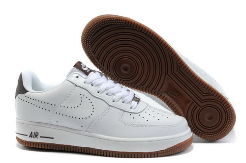 Mens Nike Air Force 1 25th Low Shoes White Brown France