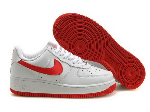 Mens Nike Air Force 1 25th Low Shoes White Carmine Red Taiwan
