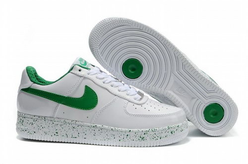 Mens Nike Air Force 1 25th Low Shoes White Green Logo Germany