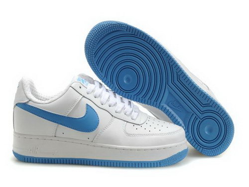 Mens Nike Air Force 1 25th Low Shoes White Light Blue Inexpensive