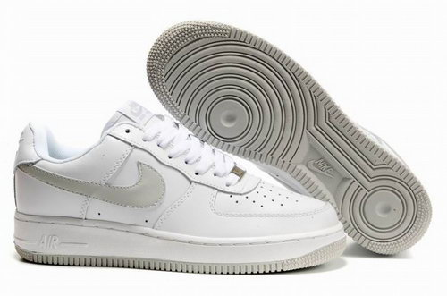 Mens Nike Air Force 1 25th Low Shoes White Light Grey New Zealand
