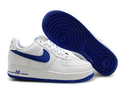 Mens Nike Air Force 1 25th Low Shoes White Ultramarine Blue Low Price