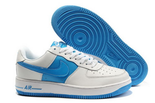 Mens Nike Air Force 1 30th Anniversary White Blue Uk