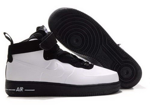 Mens Nike Air Force 1 High Foamposite White Black Switzerland