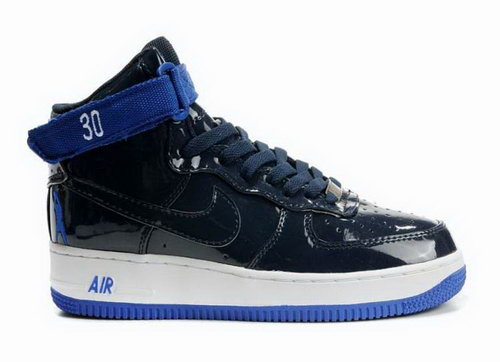 Mens Nike Air Force 1 High Rasheed Wallace Sheed Patent Black Blue Online Store