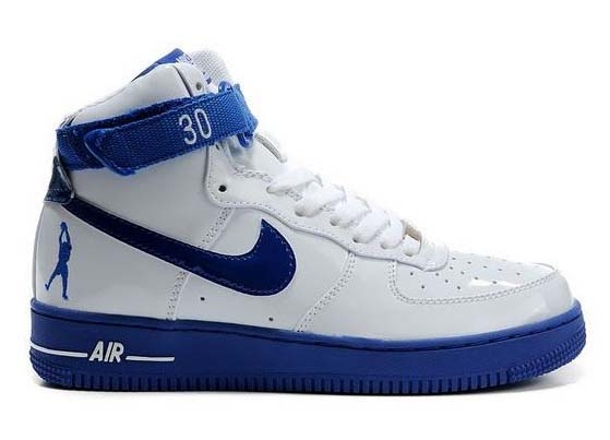Mens Nike Air Force 1 High Rasheed Wallace Sheed Patent White Blue Portugal