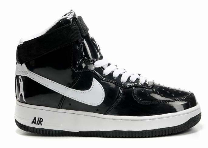 Mens Nike Air Force 1 High Sheed Patent Rasheed Wallace Black White Outlet Store