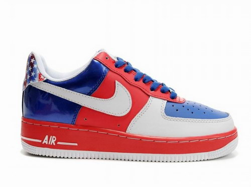 Mens Nike Air Force 1 Low Gs Red White Deep Blue Sale
