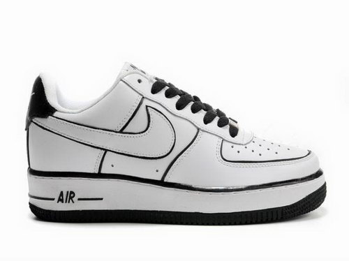 Mens Nike Air Force 1 Low Piece White Black Clearance