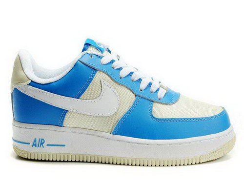 Mens Nike Air Force 1 Low Weave Blue Wheat White Closeout