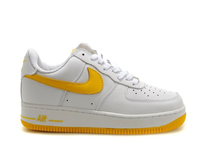 Mens Nike Air Force 1 Low White Yellow Denmark
