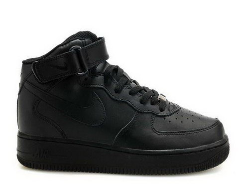Mens Nike Air Force 1 Mid All Black Online Shop