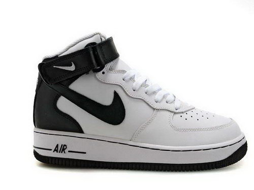 Mens Nike Air Force 1 Mid Black Black White Germany
