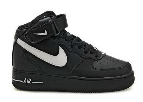 Mens Nike Air Force 1 Mid Black White Review
