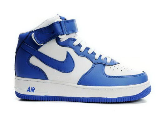 Mens Nike Air Force 1 Mid Blue White Blue Factory Outlet