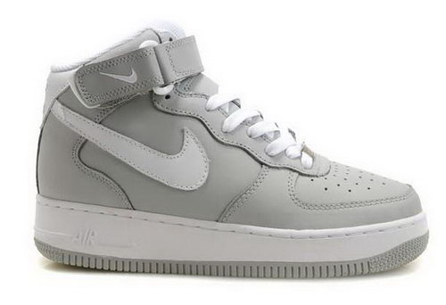 Mens Nike Air Force 1 Mid Marl Grey White New Zealand