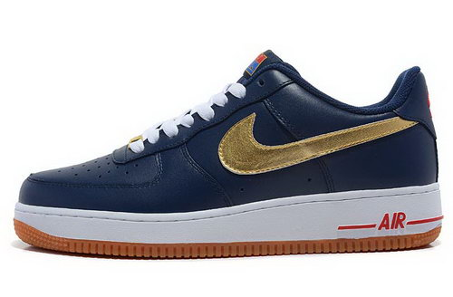 Mens Nike Air Force 1 Olympic Olympic Dark Blue Gloden Outlet Online