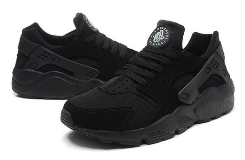 Mens Nike Air Huarache All Black 2 France