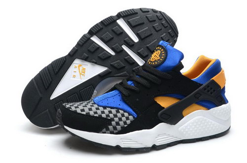 Mens Nike Air Huarache Black Blue Orange Spain