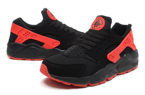 Mens Nike Air Huarache Black Red Factory Outlet