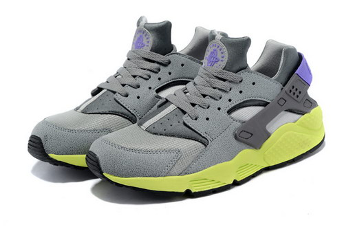 Mens Nike Air Huarache Grey Green 2 Coupon