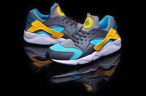 Mens Nike Air Huarache Grey Green Yellow 40-46 Low Price