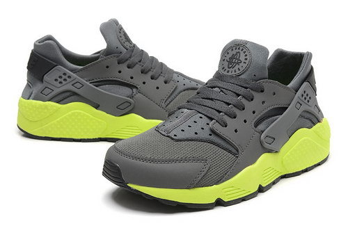 Mens Nike Air Huarache Grey Green Sweden