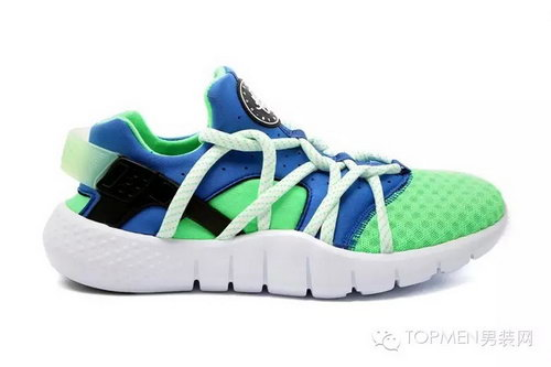 Mens Nike Air Huarache Nm Blue Green Best Price