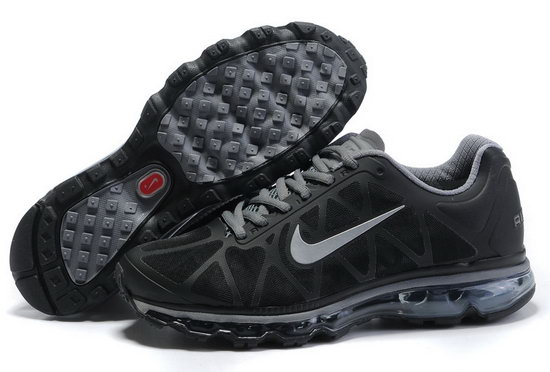 Mens Nike Air Max 2011 Black Silver Low Price