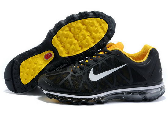 Mens Nike Air Max 2011 Black Yellow Italy