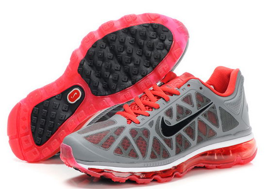 Mens Nike Air Max 2011 Grey Red Coupon Code