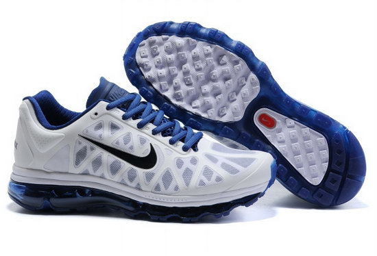 Mens Nike Air Max 2011 White Blue Wholesale