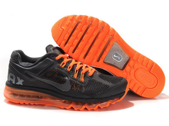 Mens Nike Air Max 2013 Black Orange Clearance