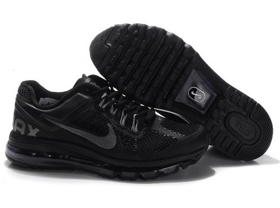 Mens Nike Air Max 2013 Black Silver Korea