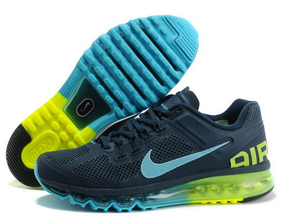 Mens Nike Air Max 2013 Dark Blue Jade Closeout